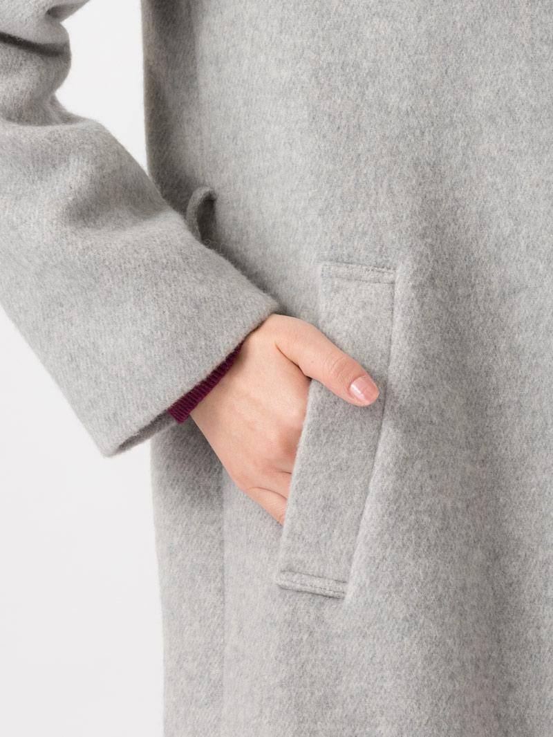 再値下げ【30%OFF】ぺコラムビーバーフード付ロングコート