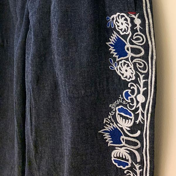 ティグルブロカンテ  botanical刺繍 タゴサクパンツ unisex