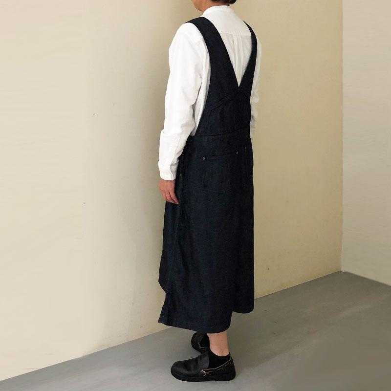 ティグルブロカンテ 8オンスデニム ステッチジャンパースカート  Indigo
