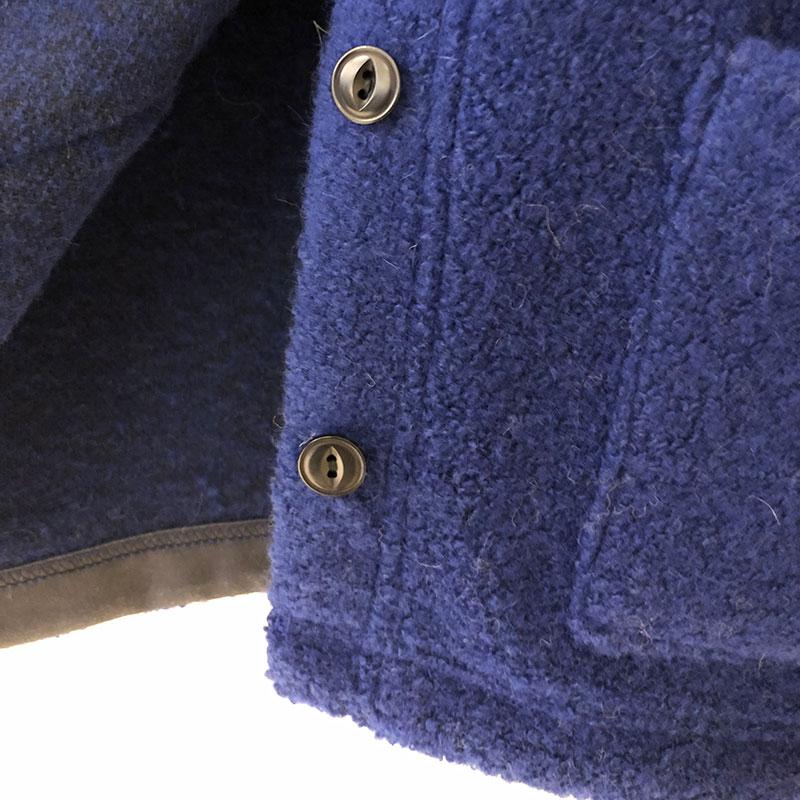 ティグルブロカンテ ウールパイル ハイネックカーディガン  Blue