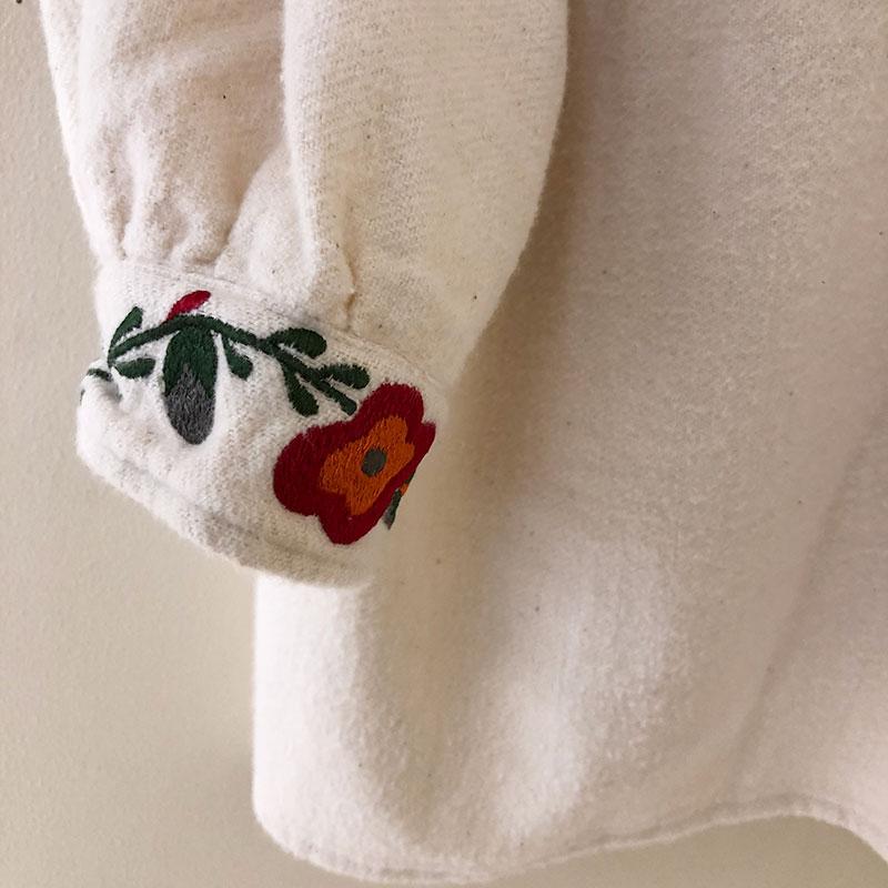 ティグルブロカンテ Flor刺繍 スモックチュニック Natural