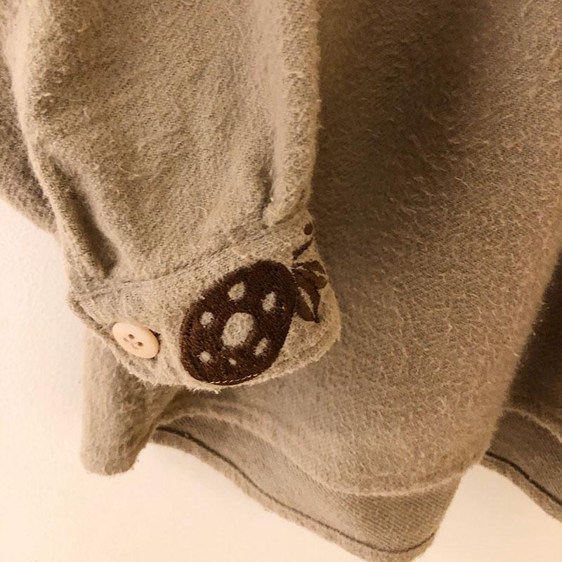 ティグルブロカンテ Flor刺繍 スモックチュニック  Beige