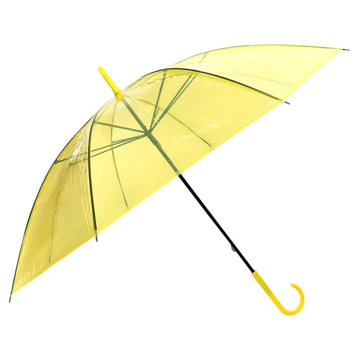 ビニール傘50cm カラー 黄色(イエロー)