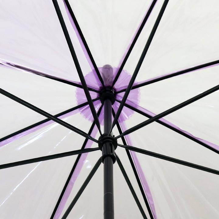 ビニール傘50cm カラー 紫色(パープル)