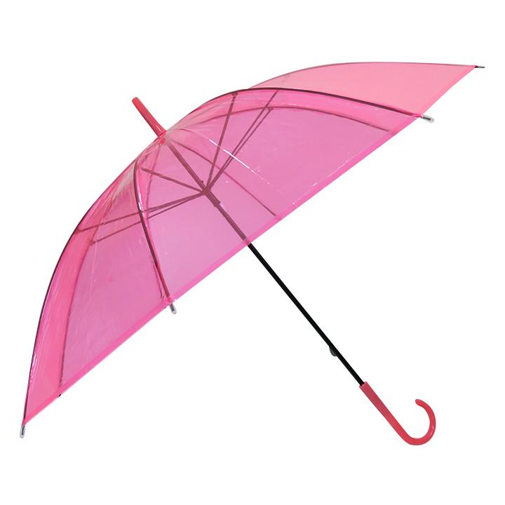 ビニール傘50cm カラー 桃色(ピンク)