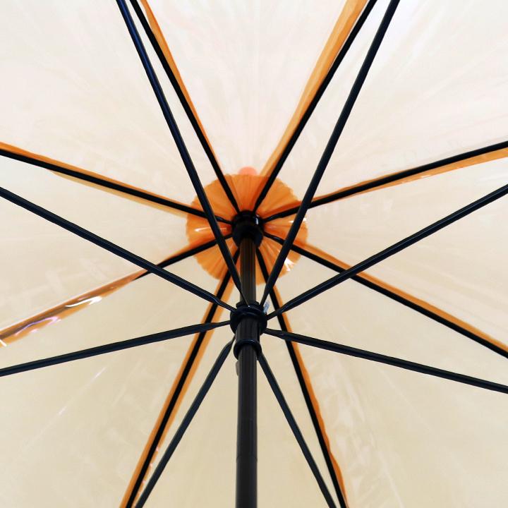 ビニール傘50cm カラー 橙色(オレンジ)