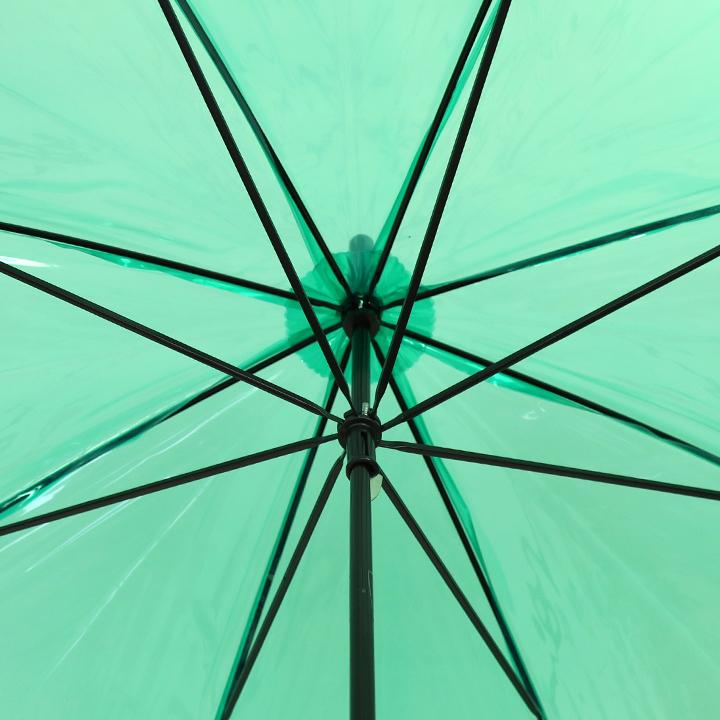 ビニール傘50cm カラー 緑色(グリーン)
