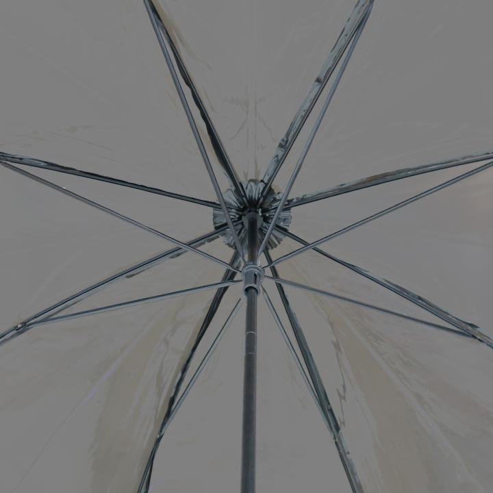 ビニール傘50cm カラー 黒色(ブラック)