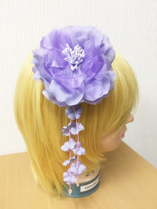 オリジナル 和風カゴバック・髪飾り