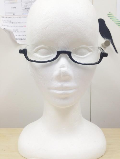 アンダーリム眼鏡【ブラック/レッド】