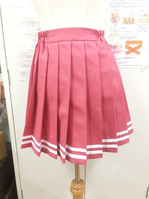 オリジナル プリーツスカート ピンク