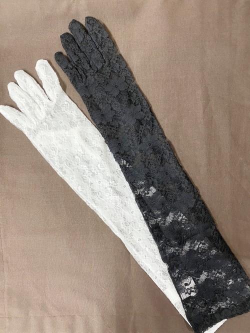 ロングレースグローブ【黒/白】