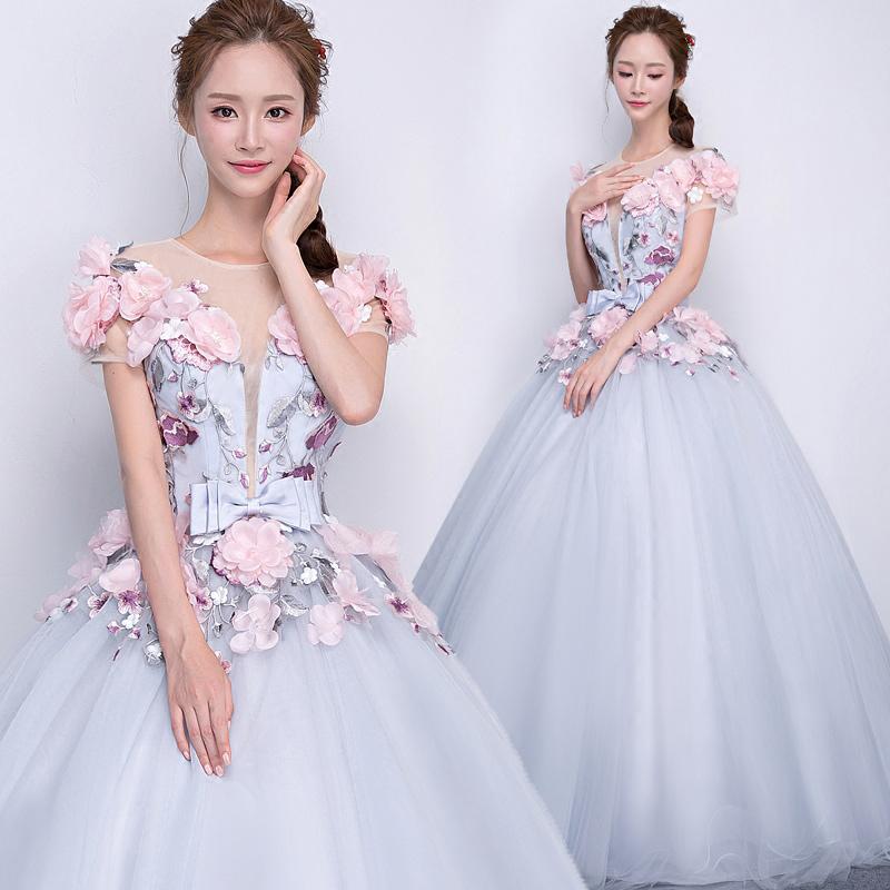 P1019170118 かわいいピンクのコサージュ カラードレス ふんわりタイプ