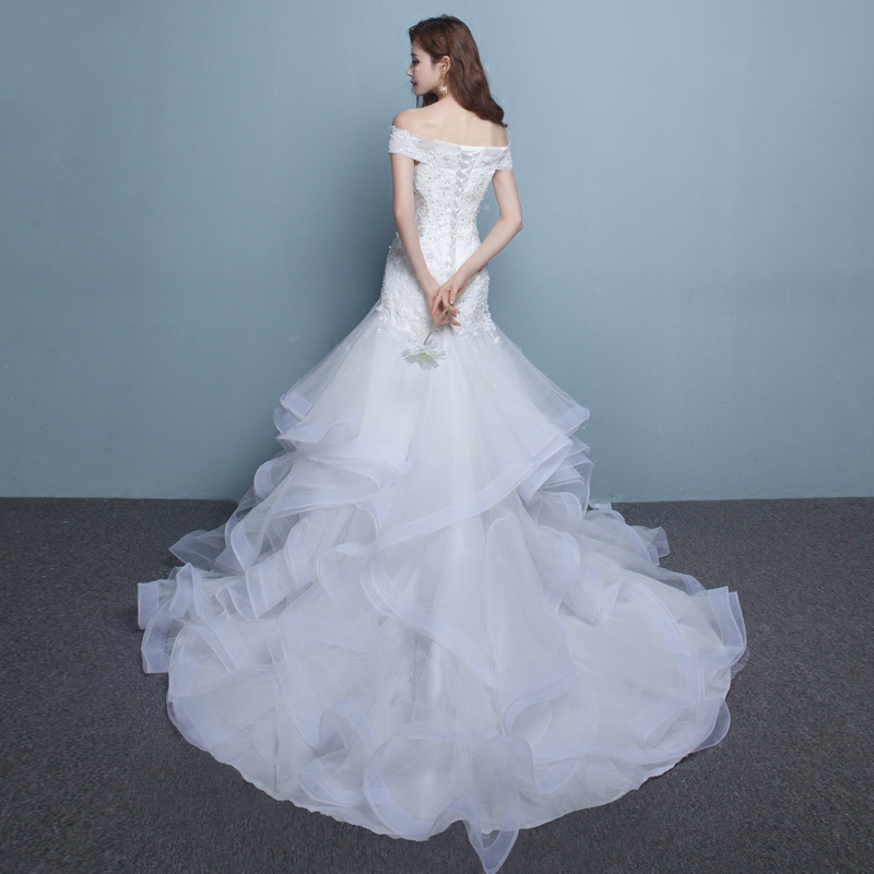 オフショルダータイプ ウェディングドレス 商品番号0304182 形式番号yinuo