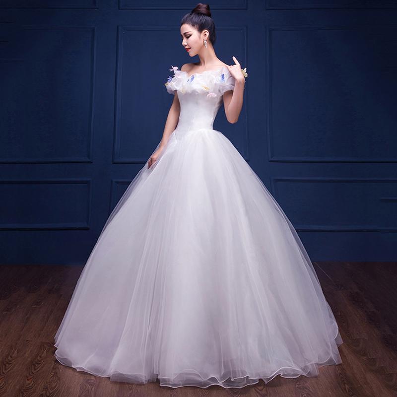 P2328016240 透き通るようなフェアリーウェディングドレス ふんわりタイプ