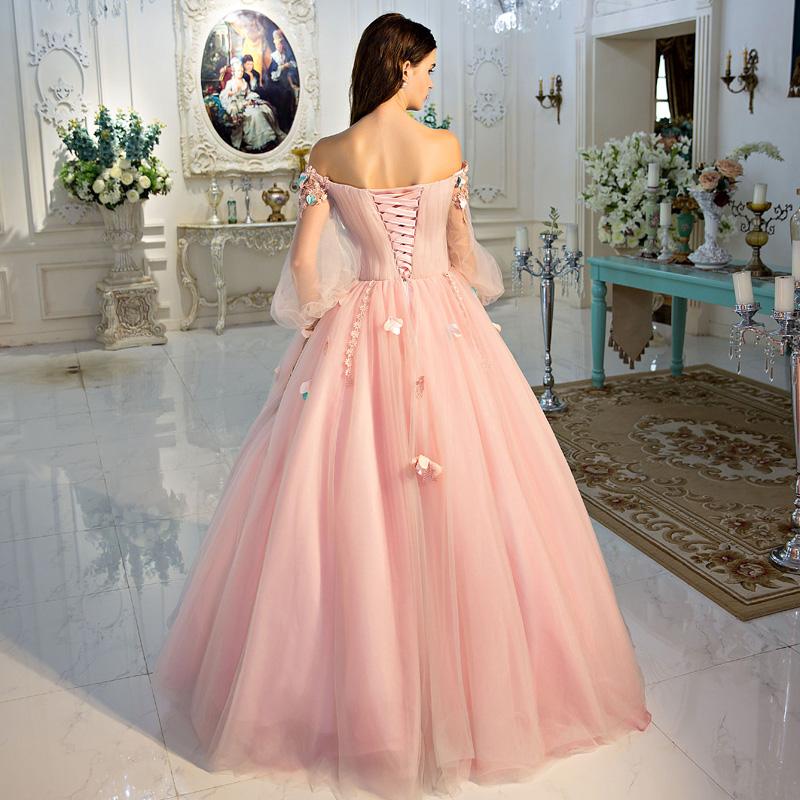 P033118 ピンクカラードレス ふんわりタイプ