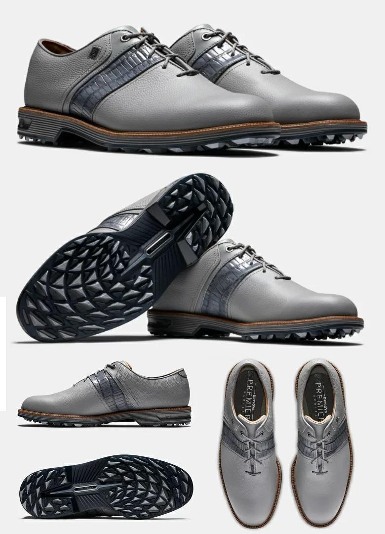 FootJoy Premiere Series - Packard Spikeless Shoes (Grey) フットジョイ パッカード スパイクレス ゴルフ シューズ