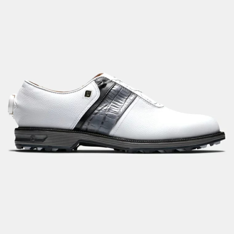 FootJoy Premiere Series - Packard BOA Golf Shoes (White/Grey) フットジョイ パッカード ボア ゴルフ シューズ