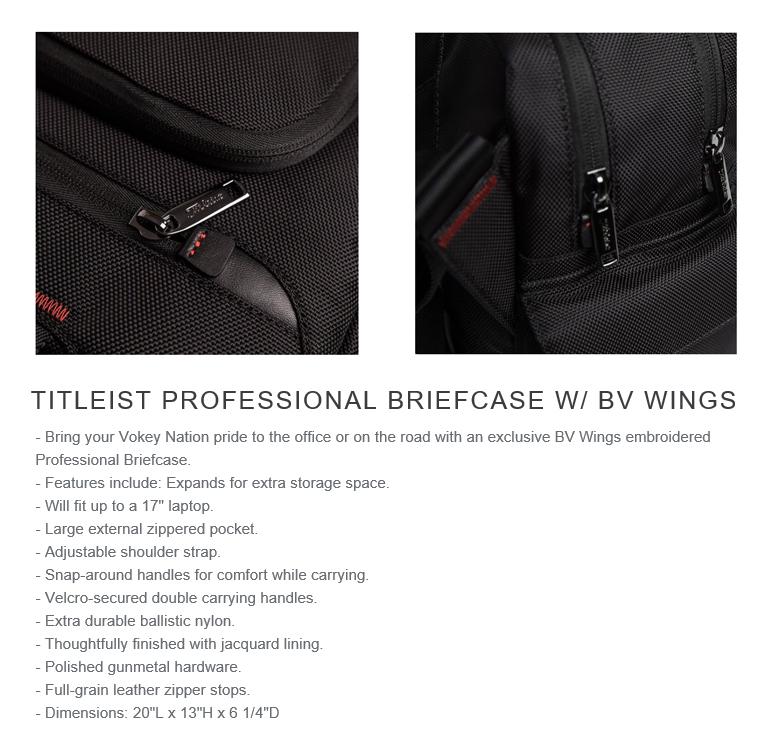 Titleist Vokey Professional Briefcase w/ BV Wings タイトリスト エッセンシャル プロフェッショナルブリーフケース