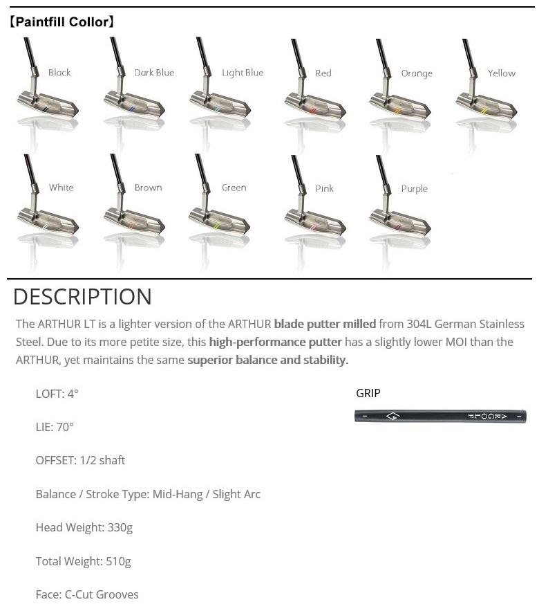 AR Golf Arthur LT Putter エーアール ゴルフ アーサー LT パター