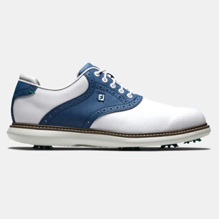 FootJoy Traditions Golf Shoes - White/Navy フットジョイ トラディションズ ゴルフ シューズ