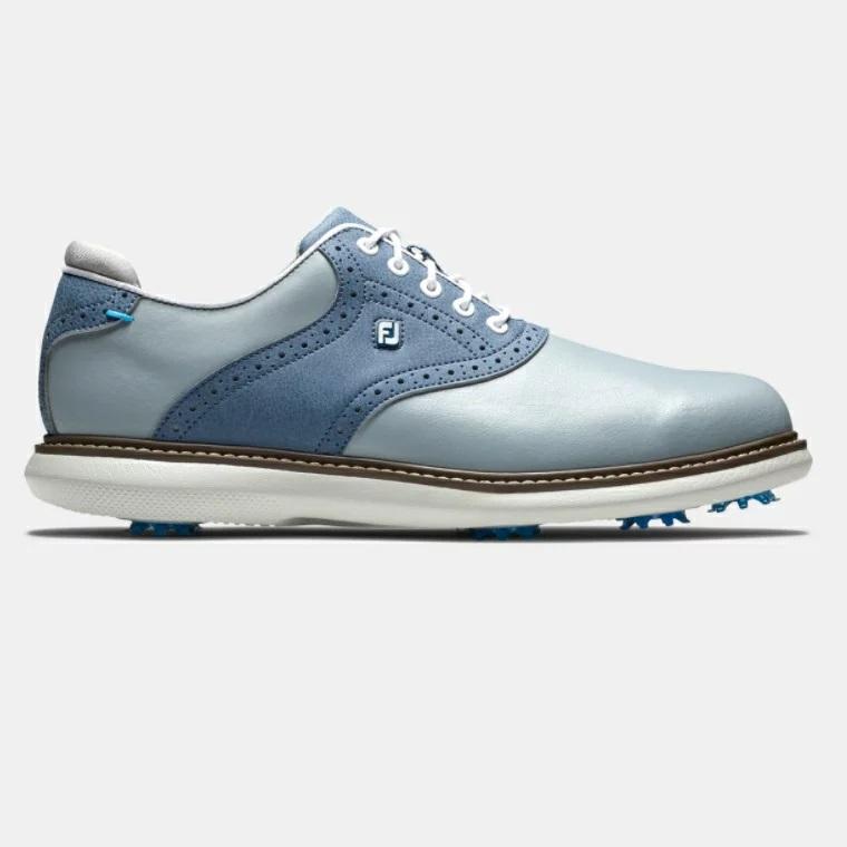 FootJoy Traditions Golf Shoes - Grey/Blue フットジョイ トラディションズ ゴルフ シューズ
