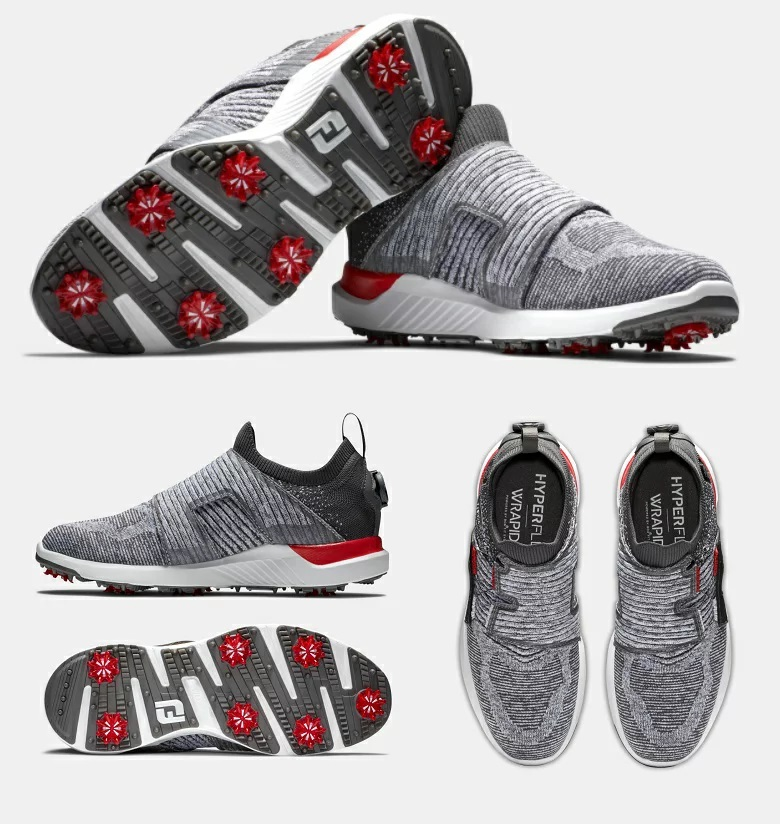 FootJoy HyperFlex BOA Golf Shoes - Charcoal/Grey/White フットジョイ ハイパーフレックス ボア ゴルフ シューズ
