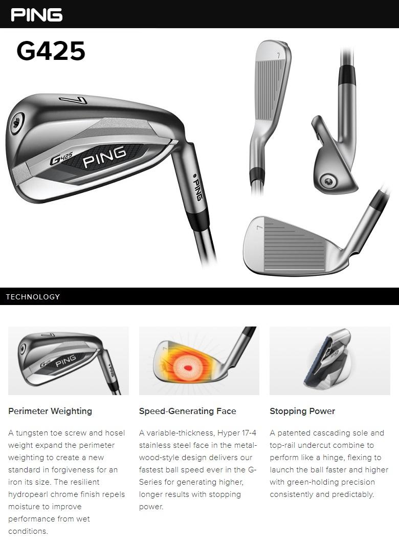 Ping G425 Iron ピン G425 単品アイアン #4,#5,UW,SW,LW メーカーカスタムシャフト