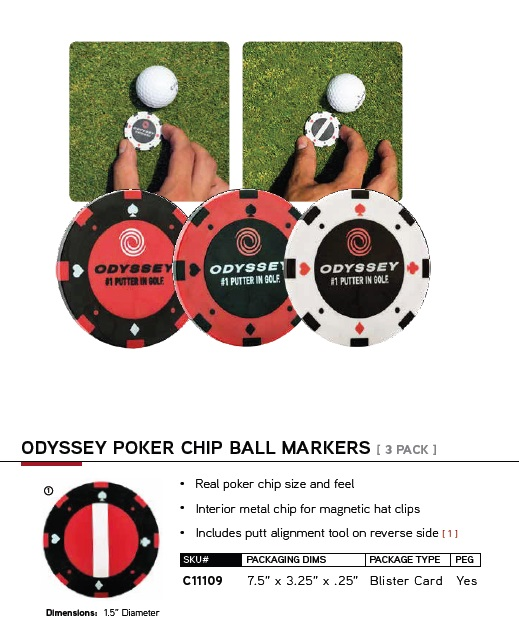 Odyssey Poker Chip Ball Markers オデッセイ ポーカーチップ ボール マーカー