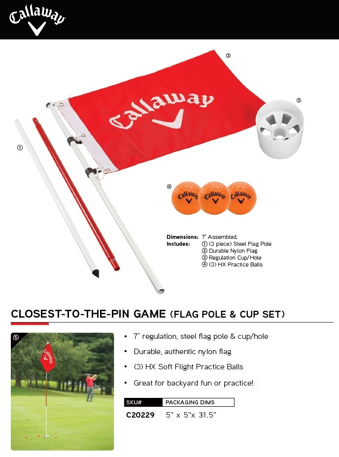 Callaway Closest-To-The-Pin Game Flag Pole & Cup Set キャロウェイ クラウシィスト トゥ ザ ピン ポール & カップセット