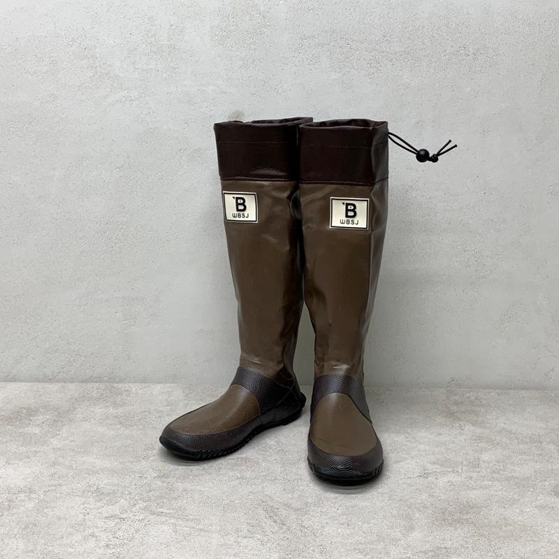 野鳥の会 バードウォッチング長靴  ブラウン