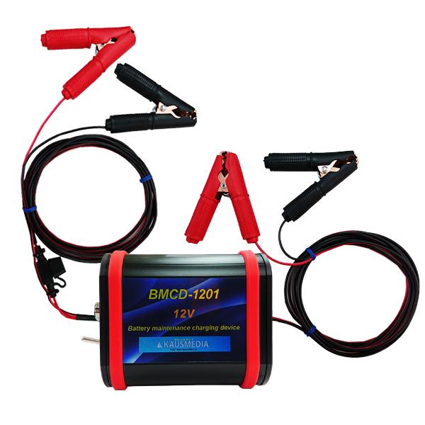 ドライブレコーダー等でバッテリー上がりを防止する充電セット BMCD-1201 20Ahバッテリー 2A充電器付き