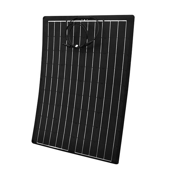 薄型 軽量 セミフレキシブル 20W単結晶ソーラーパネル