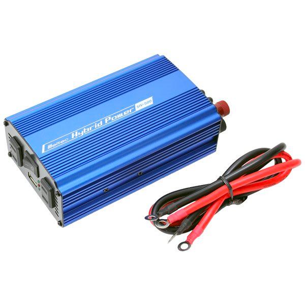超薄型・軽量・防水 100Wソーラー発電 450Wインバータ 20Ahディープサイクルバッテリーセット