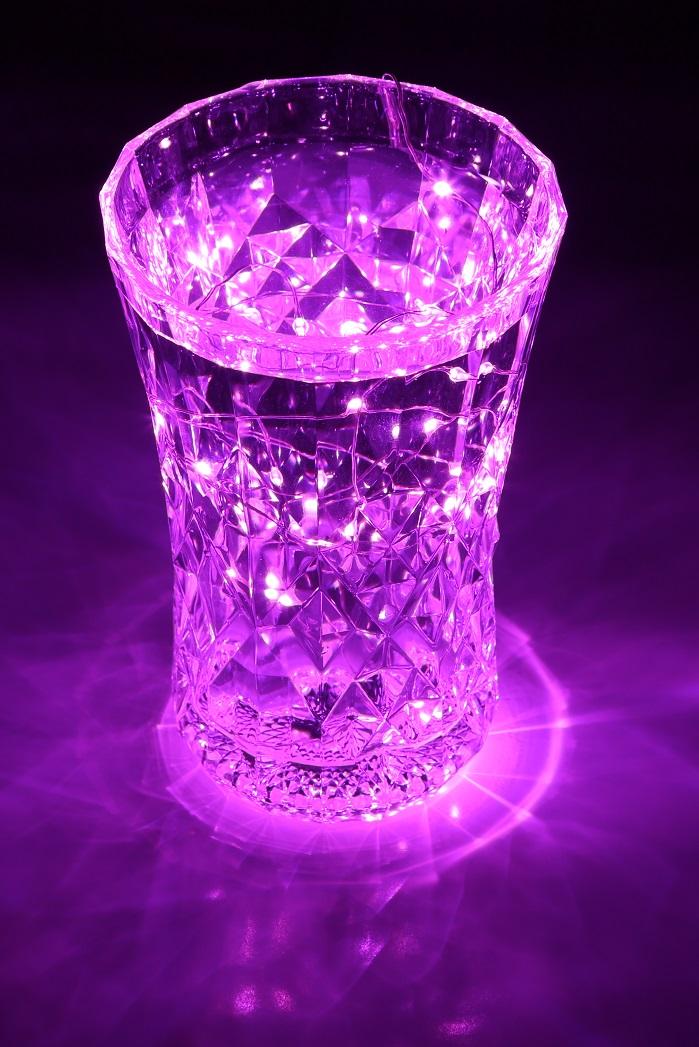 LED イルミネーションライト ジュエル ストリング 1m ピンク