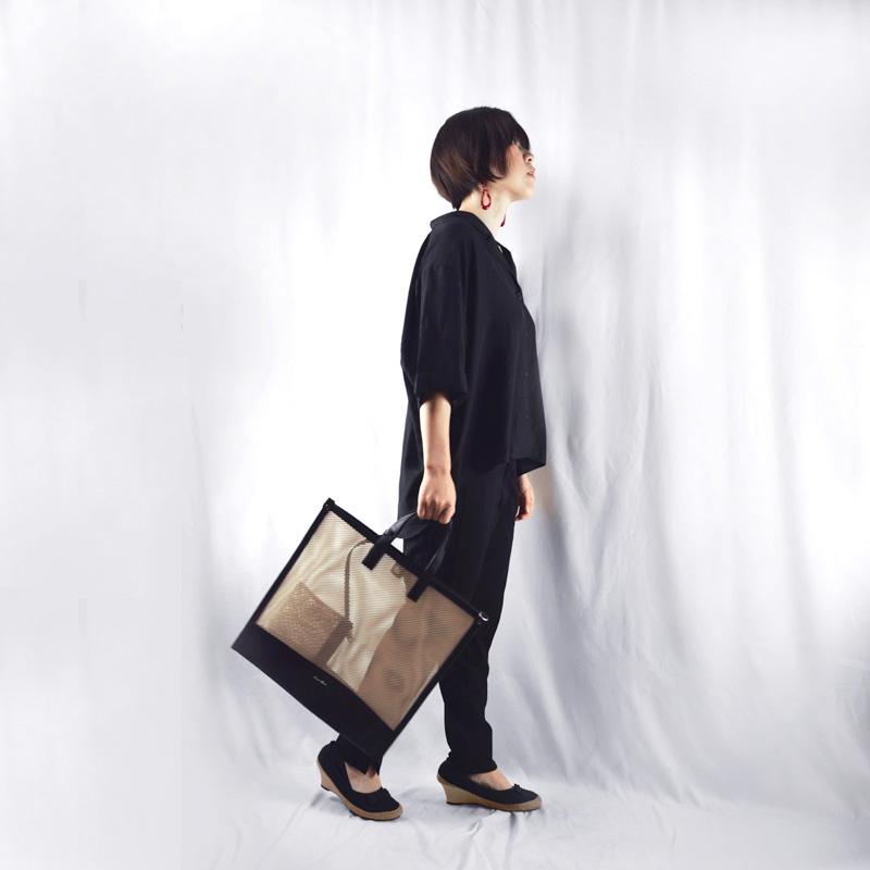 ★NEWリリース 【mesh】ポーチ付きトートバッグ