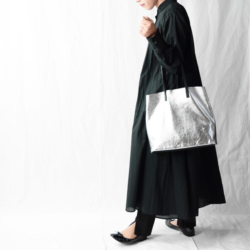 ★WEB限定 【Lamb】ラム革シルバートート