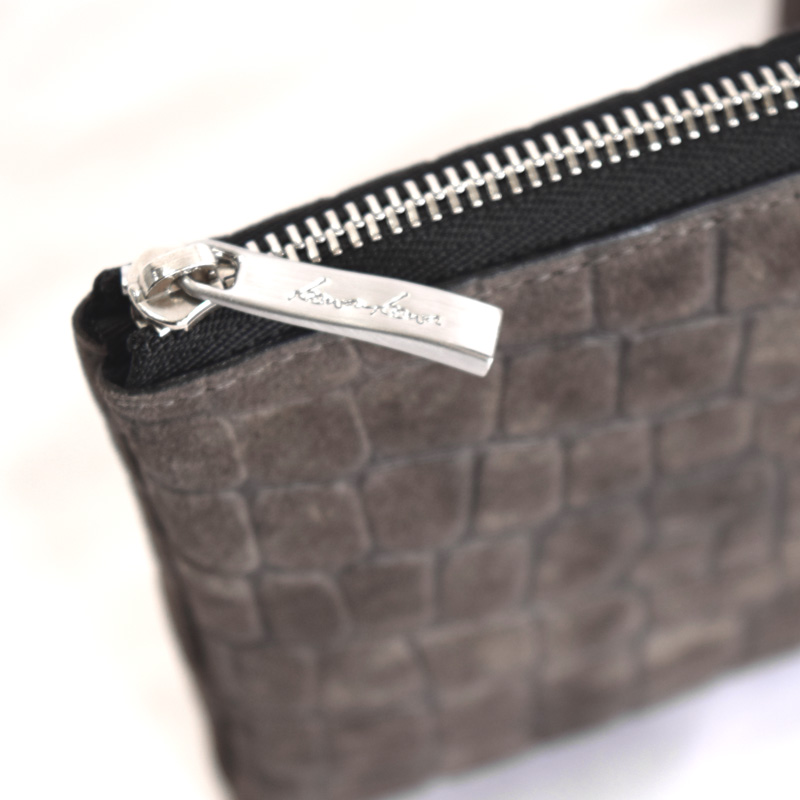 【L字ファスナーミニ財布】sand croco