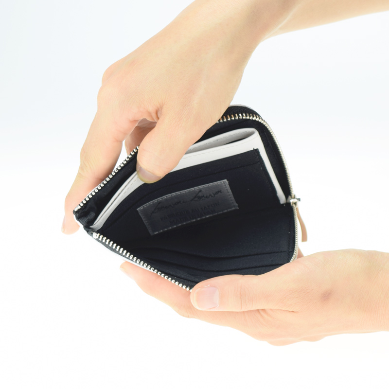 ★残りわずか!【L字ファスナーミニ財布】silver