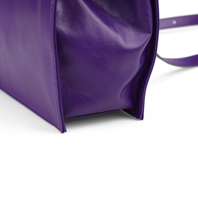 【new color purple】kuchigane角型2WAYバッグ