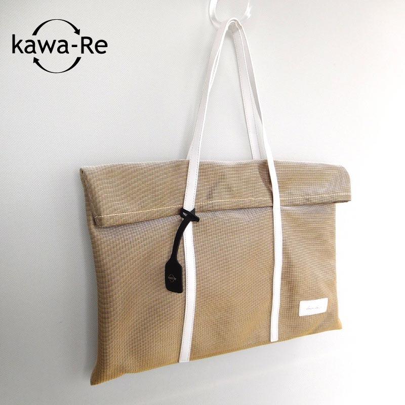 【kawa-Re】 change mesh口折れトート(1141BE)
