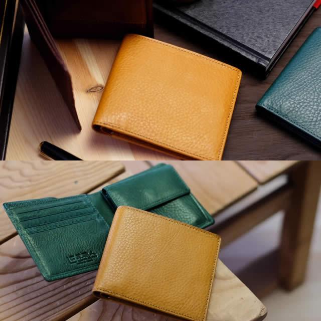 革職人 Arizona(アリゾナ)イタリアンレザー二つ折り財布