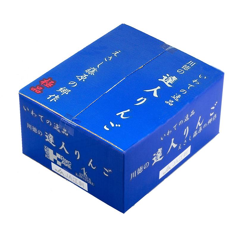 〈岩手の達人りんご〉江刺完熟サンふじ10kg箱 28〜32玉入り[E−2]