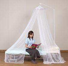 スタンド付 洗えるベッド用蚊帳 シングル