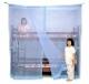洗える二段ベッド用蚊帳 ナイロン ブルー