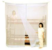 ベッド用 片麻蚊帳 白 二段ベッド