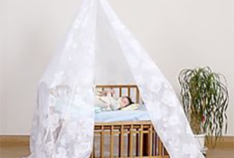 自立式ベビーベッド蚊帳(柄:動物園)