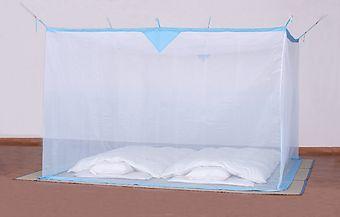 洗える大蚊帳(ナイロン)ブルー すそぼかし 6畳用