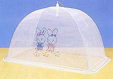 ベビーベッド用蚊帳(柄:うさぎ2匹)