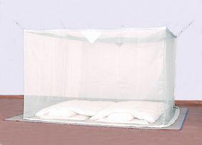 洗える大蚊帳(ナイロン) 白 3畳